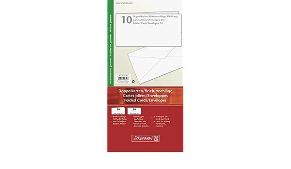 unbedruckt Briefkarte, A6, 250 g//qm, 12 Blatt BRUNNEN 1053681 Brief-//Falt-//Visitenkarte