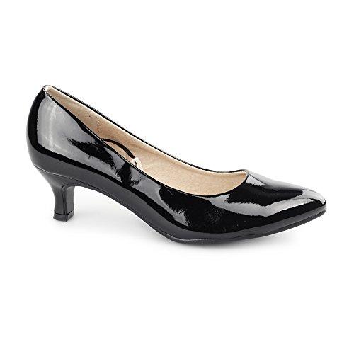 Comfort Plus , Damen Pumps schwarz schwarz Schwarz