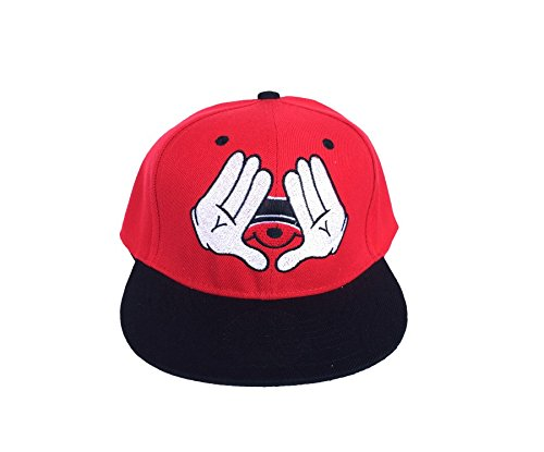 Dope Mickey Hands Dang Snapback, Imported Baseball Cap [ Freebie worth 150 Included ]  available at amazon for Rs.425