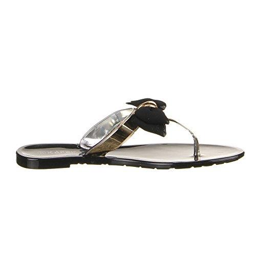 Sapatas Preto Senhoras Sandálias Voar Flip flops Das 12 Com Deco Ls13 ggx7Oz