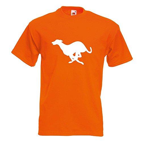 KIWISTAR - Windhund T-Shirt in 15 verschiedenen Farben - Herren Funshirt bedruckt Design Sprüche Spruch Motive Oberteil Baumwolle Print Größe S M L XL XXL Orange