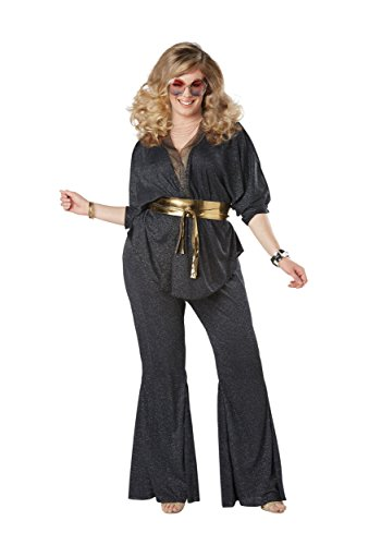 Disco Dazzler Plus Size Womens Fancy dress costume ()