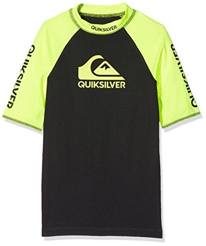 Quiksilver On Tour Lycra-Shirt mit UV Schutz UPF 50, Kinder S grün (gelb)/schwarz