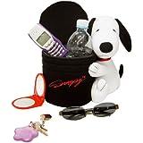 Ototop 92001 - Portaobjetos grande con diseño de Snoopy, color negro