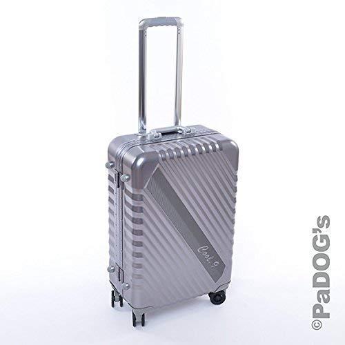 Cool-9 Aluminium-Reisekoffer dunkel grau M, 59 Liter, mit TSA Schloß, 4 Rollen, Teleskopgriff