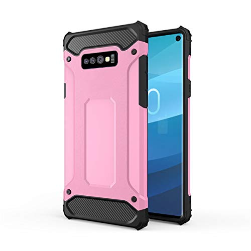 Forhouse Hülle Durable Protective Case Hülle, Thin Anti-Scratch Skin Back Hülle Full Cover für Samsung Galaxy S10 Lite - Rosy