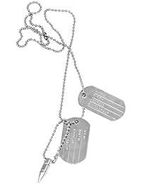 Chooz Designer Studio Silver Alloy Pendant with Chain for Men