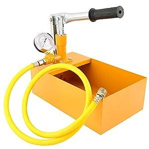 Festnight Máquina hidráulica manual de la bomba de prueba del probador de la presión del agua de 2.5MPa 25KG con la…