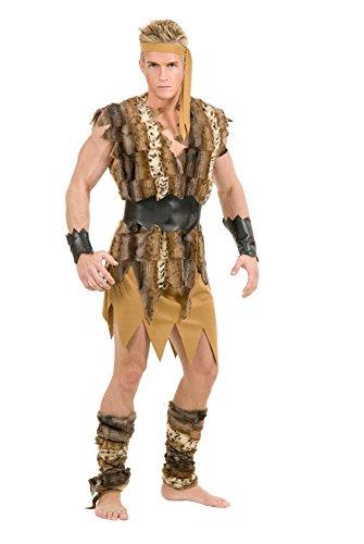 Caveman Party Kostüm - Herren 's Plus Größe Cool Caveman Kostüm