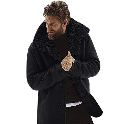 Elecenty Cappotto Uomo InvernaleGiacca invernale montone Cappotto per giacche agnello finto caldo lana di montagna da uomo