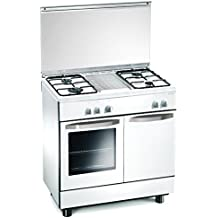 Cucina a gas 80x50x85 cm bianca 4