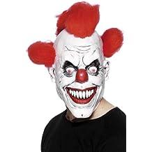 Smiffys Smiffys-26385 Máscara de payaso 3/4, con pelo Color rojo y