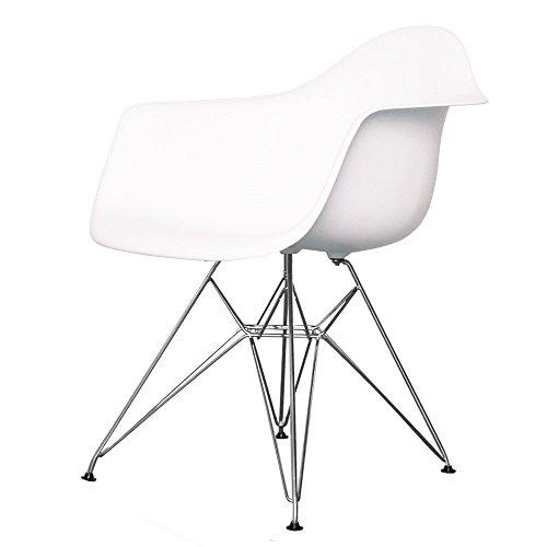 Charles Eames Stil Eiffel kühlen weißen Kunststoff Retro-Sessel