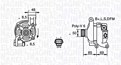 Magneti Marelli 944390904320–Lichtmaschine