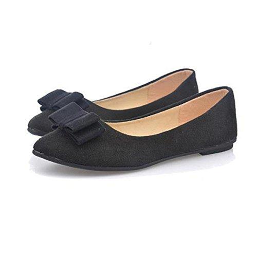 Sandalen Damen,Binggong Frauen Ballett Schuhe Arbeit Wohnungen Fliege Slip Bowknot Schuhe Boot Bequeme Schuhe Mode Sandalen Reizvoller Berufssandale Stilvoll Atmungsaktiv Badeschuhe (Schwarz, 36) (Zehen-sandale Boot)