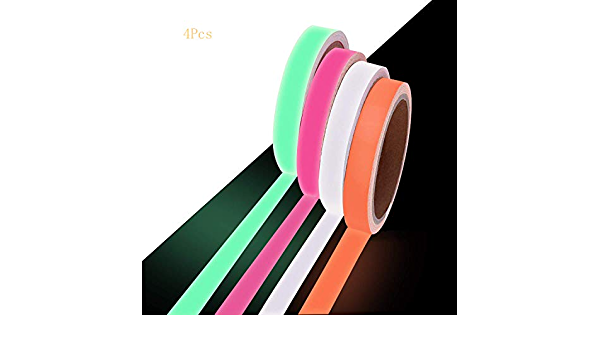 6 Farben leuchtet im Dunkeln 1,5 cm x 5 m 12 St/ück Whaline Neon-Tuchband fluoreszierendes UV-Schwarzlicht