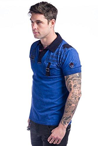Koroshi Herren Poloshirt Blau