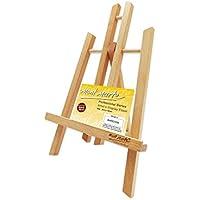 MONT MARTE Caballete Mesa pequeña de madera de Haya - Small - Caballete compacto - Ideal para la presentación de lienzos y marcos de hasta 30 cm - Ideal para Eventos, Exhibiciones y Convenciones