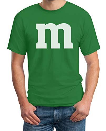Party Geburtstag Ideen Kostüm - Süßes M Outfit Herren Karneval Fasching Gruppen-Kostüme T-Shirt X-Large Grün