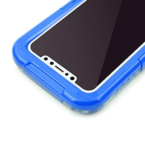 iProtect Apple iPhone X wasserdichtes Outdoor Case Schutzhülle ultradünn in Schwarz Blau
