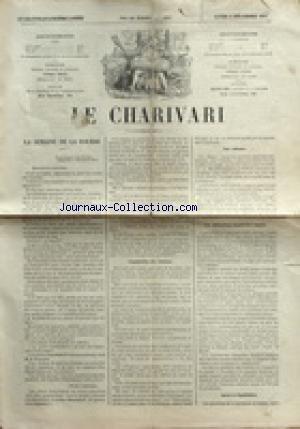 CHARIVARI (LE) du 06/12/1875 - LA SEMAINE DE LA BOURSE - LIQUIDATION DES VALEURS - LES OBLIGATIONS FONCIERES RUSSES