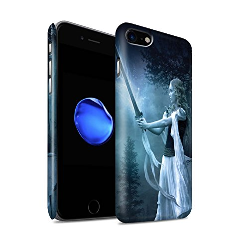 Offiziell Elena Dudina Hülle / Matte Snap-On Case für Apple iPhone 8 / Zauberschwert Muster / Superheldin Kollektion Zauberschwert