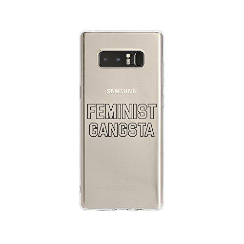 licaso Handyhülle für Note 8 aus TPU mit Feminist Gangsta Print Design Schutz Hülle Protector Soft Extra