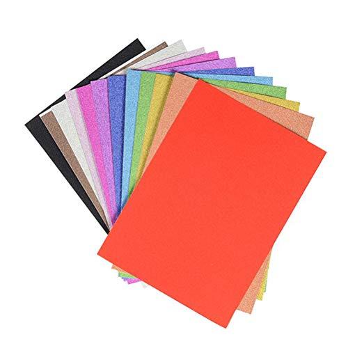 SUPVOX Glitzer Papier Selbstklebende Dekorpapier für DIY Handwerk Basteln Machen 20 Stücke (Zufällige (Schaumstoff Kostüm Machen)