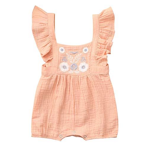 Unisex Kinderbekleidung,ODRD Clearance Sale Neugeborenes Baby Mädchen Farbe  solide Stickerei Floral Strampler Bodysuit Outfits Kinder Kleinkind