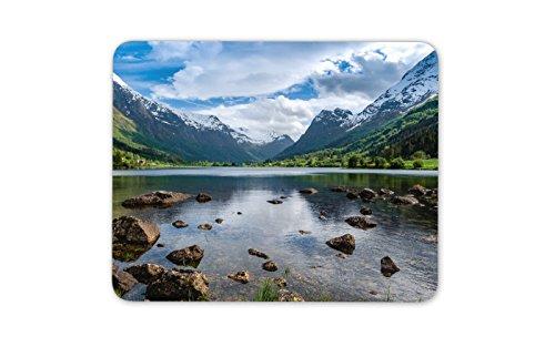 Schöne Norwegen Landschaft Mauspad Pad - Mountain Lake Spaß-Geschenk-Computer # 8914 Norwegen-pc