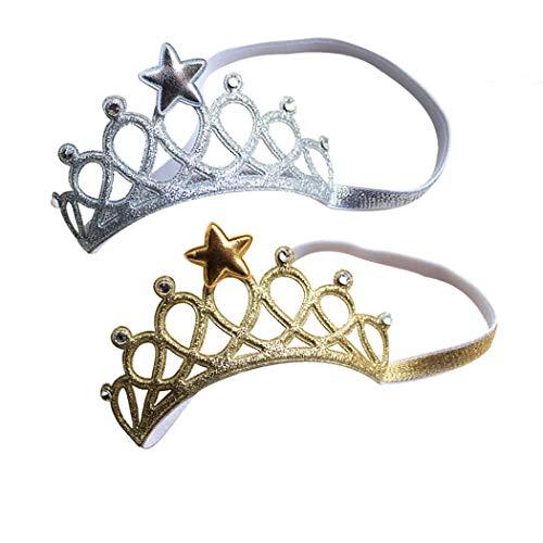 Kronen Haarspangen Prinzessin Kronen Stirnband Kronen Hairband Kinder Mädchen Haarklammern x 2