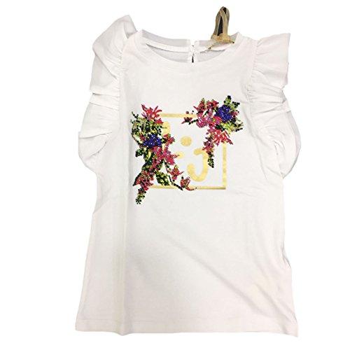 LIU JO Vestito Bambina K17083 Bianco Abito Primavera/Estate 24 MESI
