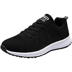 OHQ Zapatos Deportivos Mujer Sandalias Romanas Playa Zapatillas Verano Moda Chanclas Zapatos Individuales Casuales Zapatillas Deporte Zapatos De La Yoga CóModo (39, Negro)