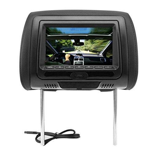 "Dailyinshop 2 STÜCKE Universal 7"" Kopfstütze Auto DVD + AV Player Schwarz Monitore FM Transmitter"