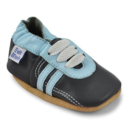 petit-marin-chaussures-bebe-cuir-souple-tennis-grises-18-24-mois