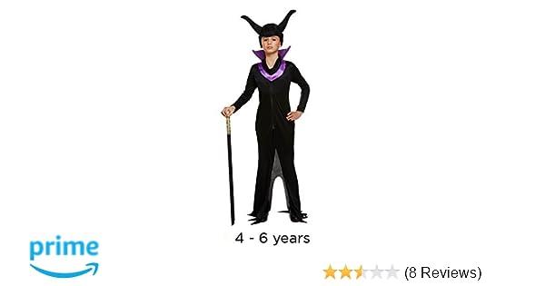 f0f31f8fe Children s Halloween Evil Queen Maleficent Style Fancy Dress Costume ...
