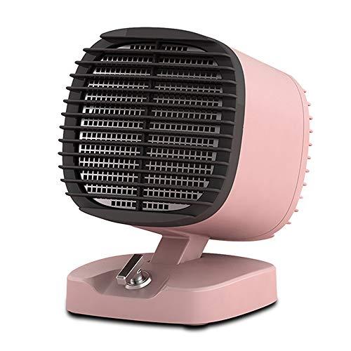 YANHTSO Desktop-Heizung-Startseite Mini-Heizung Schlafzimmer Büro Wohnzimmer Kleine elektrische Solarheizung 2 Wärmeeinstellung Überhitzungsschutz 400 600 Watt Energiesparventilator (Farbe : Pink)