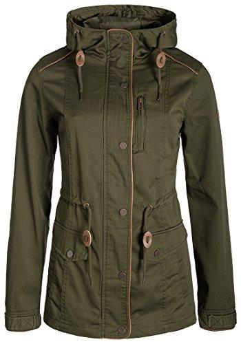 DESIRES Anja Damen Übergangsjacke Mantel Parka mit Kapuze, Größe:XL, Farbe:Ivy Green (3797)