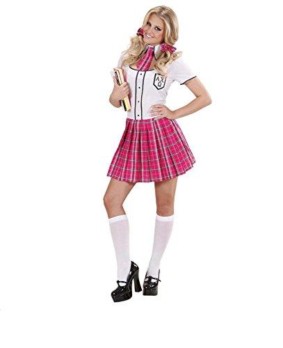 KOSTÜM - COLLEGE GIRL - Größe 42/44 (L), Schule Universität Schulmädchen Schülerin Studenten (Halloween College Girl)