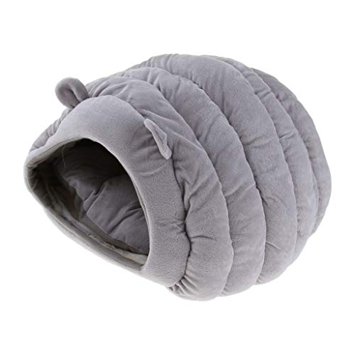 Hundebett Katzenbett Hundehöhle Katzenhöhle Winter Warm Schlafsack für Hunde Katzen Kaninchen Kleintiere - Grau