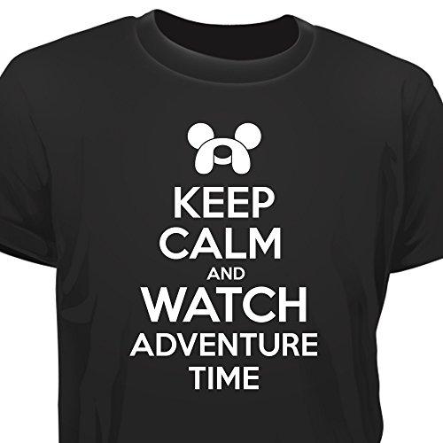 Creepyshirt - KEEP CALM AND WATCH ADVENTURE TIME T-SHIRT - M