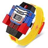 Bella Orologi, La vigilanza del giocattolo digitale stile trasformatore assemblea robot da polso per bambini ( Colore : Giallo , Taglia : Taglia unica )