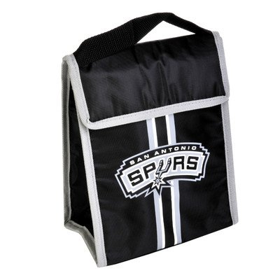 Forever Collectibles NBA Unisex Klettverschluss Lunchtasche, Unisex, Small Logo, SAN Antonio Spurs Team Velcro Lunch Bag - San Antonio Spurs-bean-bag