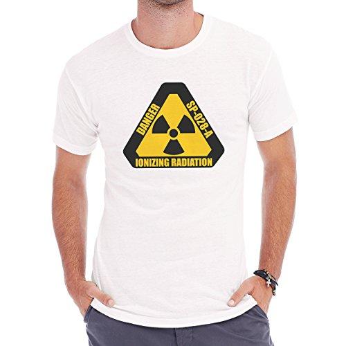 Danger Sign Warning Caution Zone Radiation Herren T-Shirt Weiß