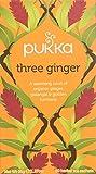 Pukka Three Ginger, Organic Herbal Tea with Galangal & Turmeric