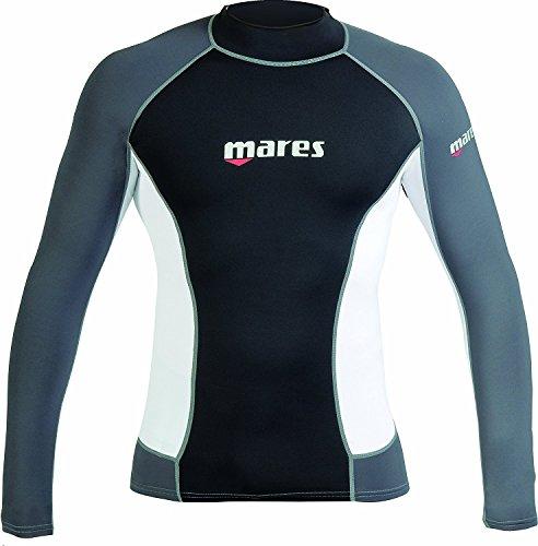 Lycra Langarm Rash Guard (Mares Langarm-UV-Schutz-Herren schwimmen Shirt, MD)