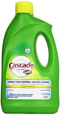 Cascade Gel Dishwasher Detergent With The Power Of Clorox Lemon Scent 75 Oz