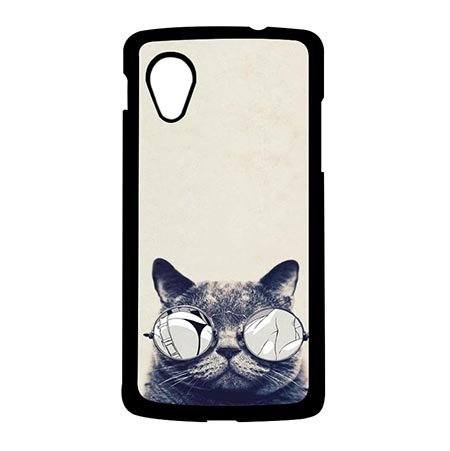 SAND RAEC RUCER Shop Google Nexus 5 Protective Phone Schutzhülle Für Grumpy Cat With Glasses Thin Protective Hülle For Girls (Grumpy Girl)