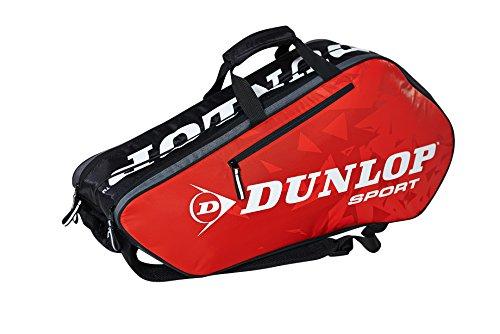 Dunlop Schlägertaschen Tour 6 Racket Bag Tennistasche Rot 75 x 34 x 29 cm, 1 Liter -
