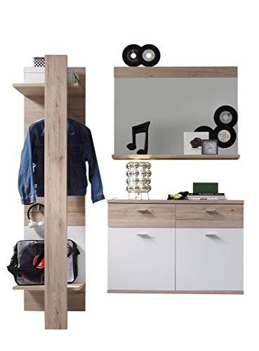 trendteam smart living Garderobe Garderobenkombination 3-teiliges Komplett Set Campus, 165 x 187 x...